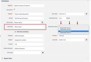 Easy Redmine zależne custom fields